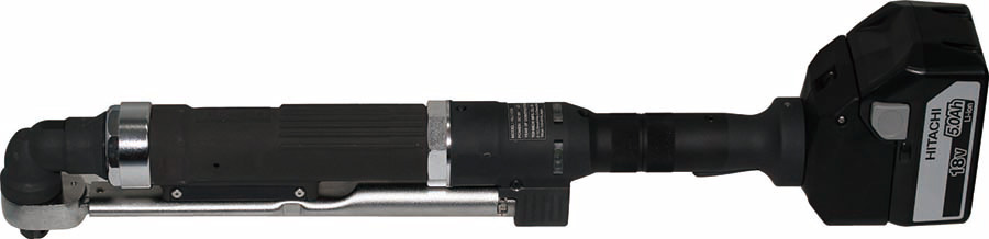 HAC100N battery-operated semi-automatic electric torque wrench (* Note: Shown attached to optional large-capacity battery)